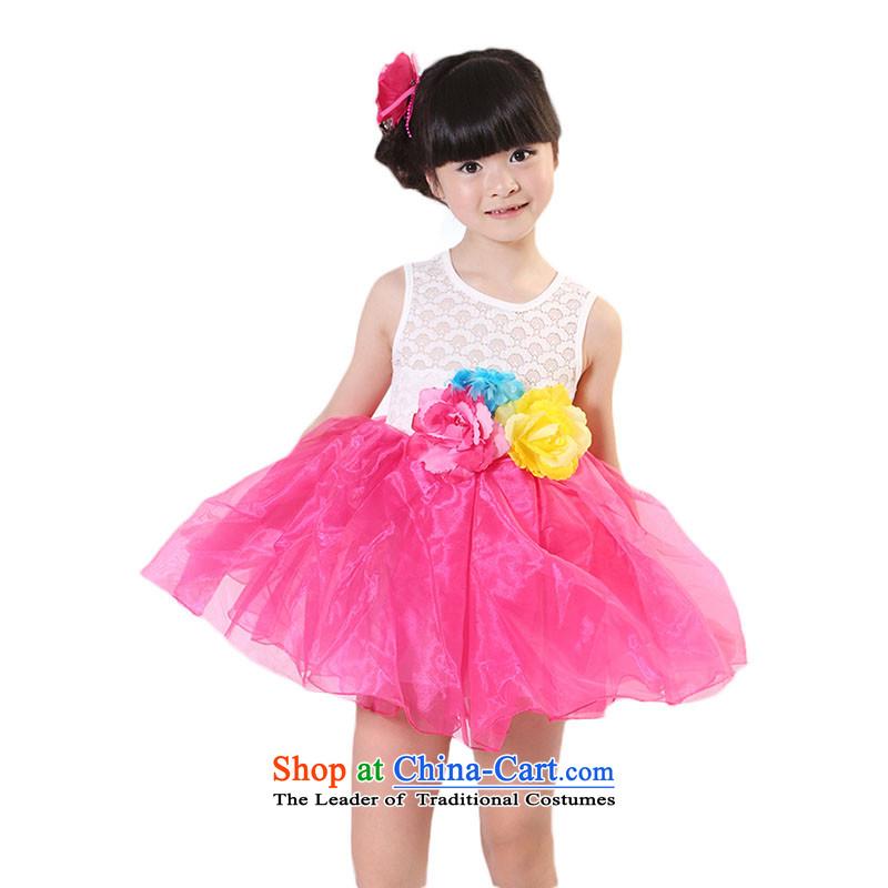 The girl child skirt vest skirt dance skirt Bora Bora dressesTZ5108-0002Coco Lee Red150cm