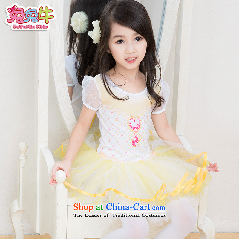 Rabbit and cattle new) Autumn 2015 Children Ballet exercise clothing children bon bon skirt dress figure color, 150