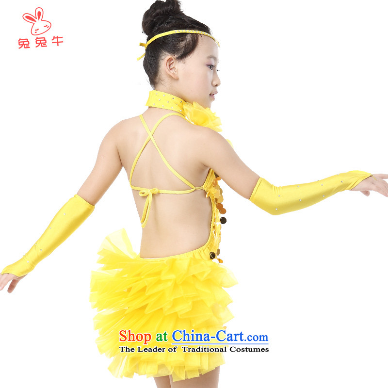 The United States and the 2014 autumn load new cattle, girls Latin dance competitions for children's clothing willcome on-chip sets PHASED yellow150