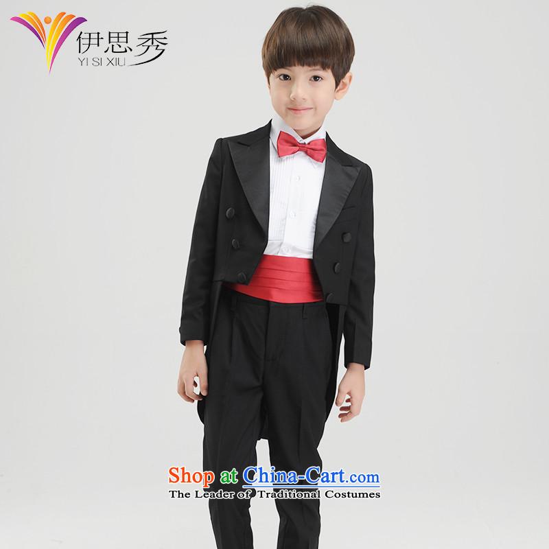 The league-Soo Choo, CUHK child children dress boy frock coat Kit Flower Girls dress will show moderator frock coat boys black frock coat X094 150