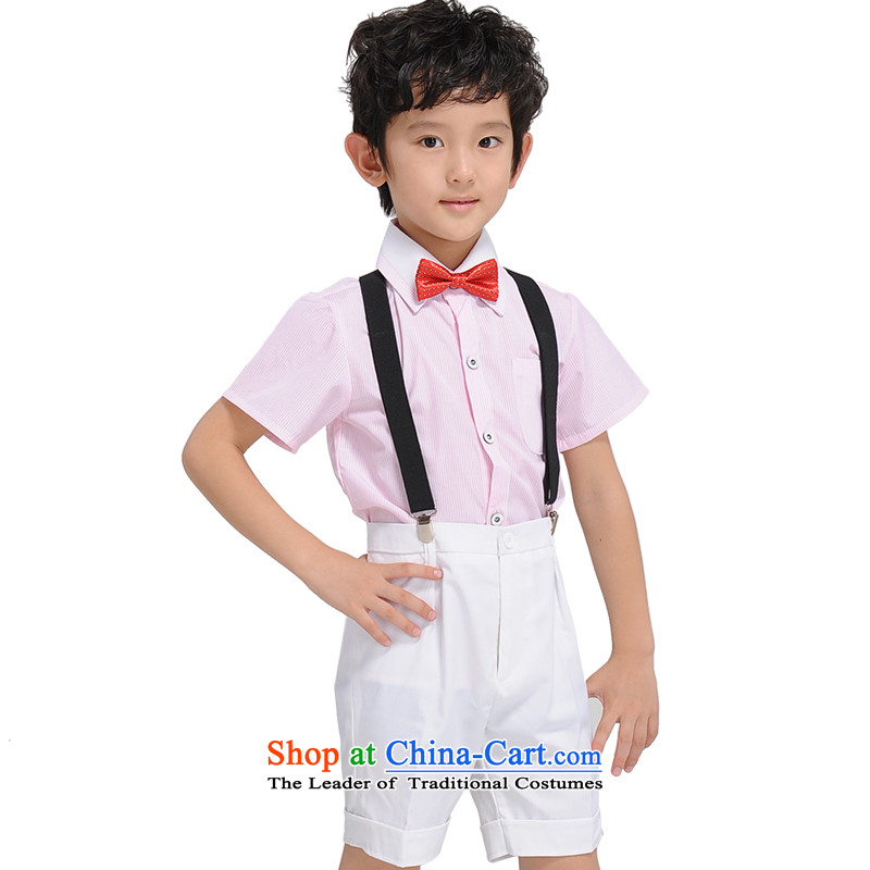 The league-soo children will show the boy dress the national day grand show dress shorts toner shirt back and white with a red dot tie150