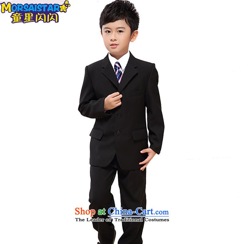M&B suits children pack your baby suit Korean children's wear small winter jackets large flower girl child suit Male dress winter) black suit, 7 piece kitis suitable for high 146-155CM 150