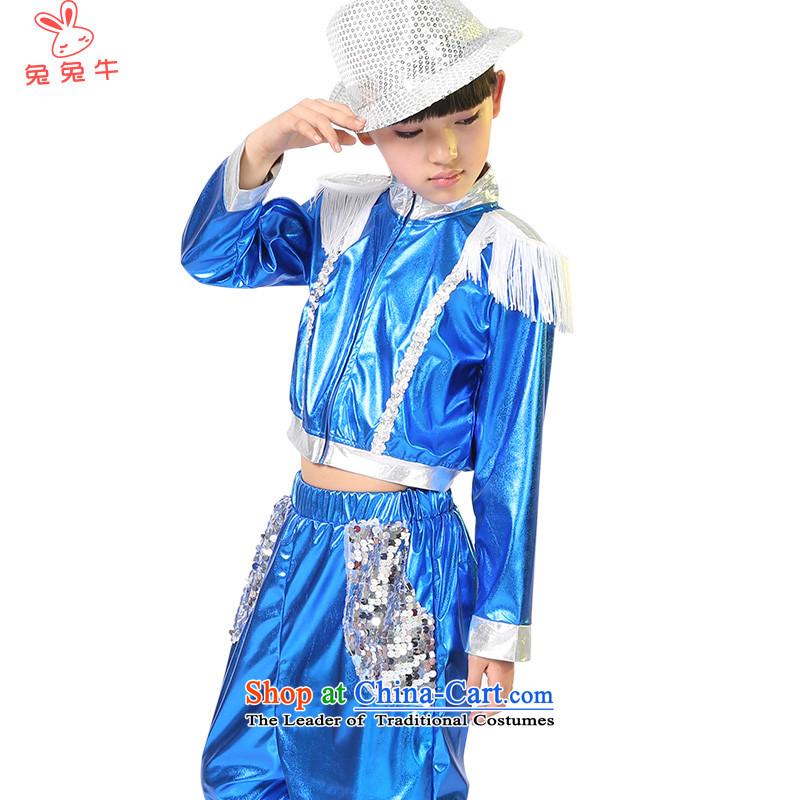 Rabbit2014 children and cattle jazz dance performances to girls show apparel will boy children's entertainment costumes servicestake theBlue120