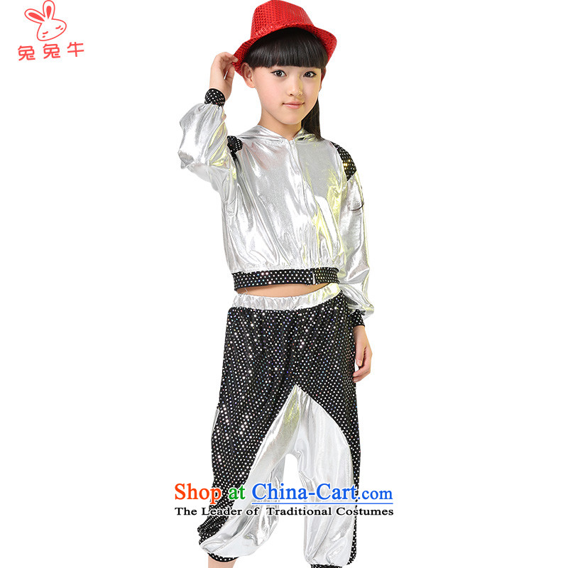Rabbit聽2014 children and cattle jazz dance performances to girls jazz dance costumes street children dance wearing boy will聽SLIGO聽silver聽150