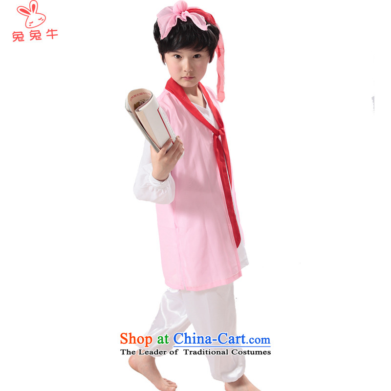 Rabbit and cow costumes will show children children Han-girls three character costumes and boys nunnery will Jln Besar Bahau, Bahau Stockist pink 140