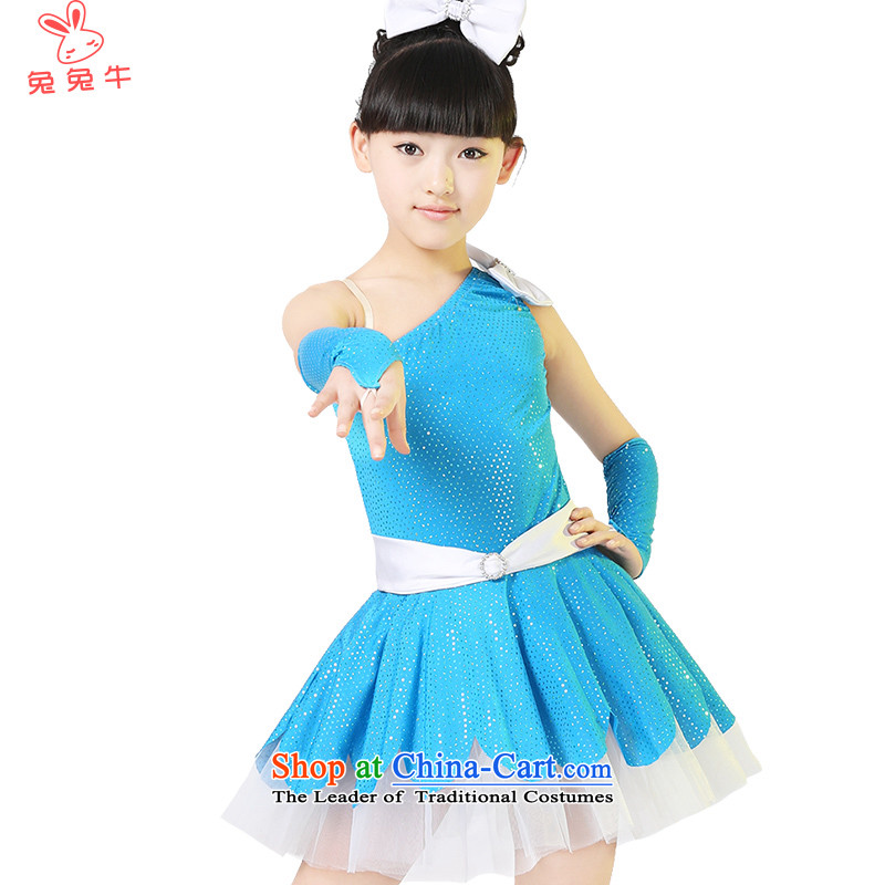 Rabbit and cow costumes girl children dance skirt on chip dress child care for children with costumes and children willQ34Blue150