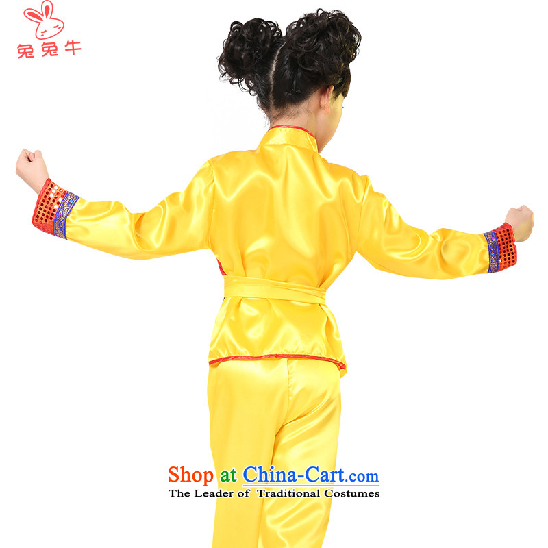 Rabbit and cattle martial arts services children national costumes martial arts costume services martial arts clothing will Children Folk Dances of the N20  and cattle and yellow 120-130 , , , shopping on the Internet