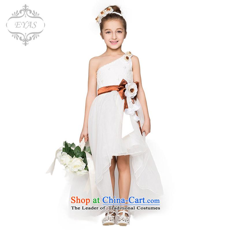 Eyas children princess skirt dress girls wedding dress princess wedding flower girls dresses skirt skirt girls dress dresses female white聽150