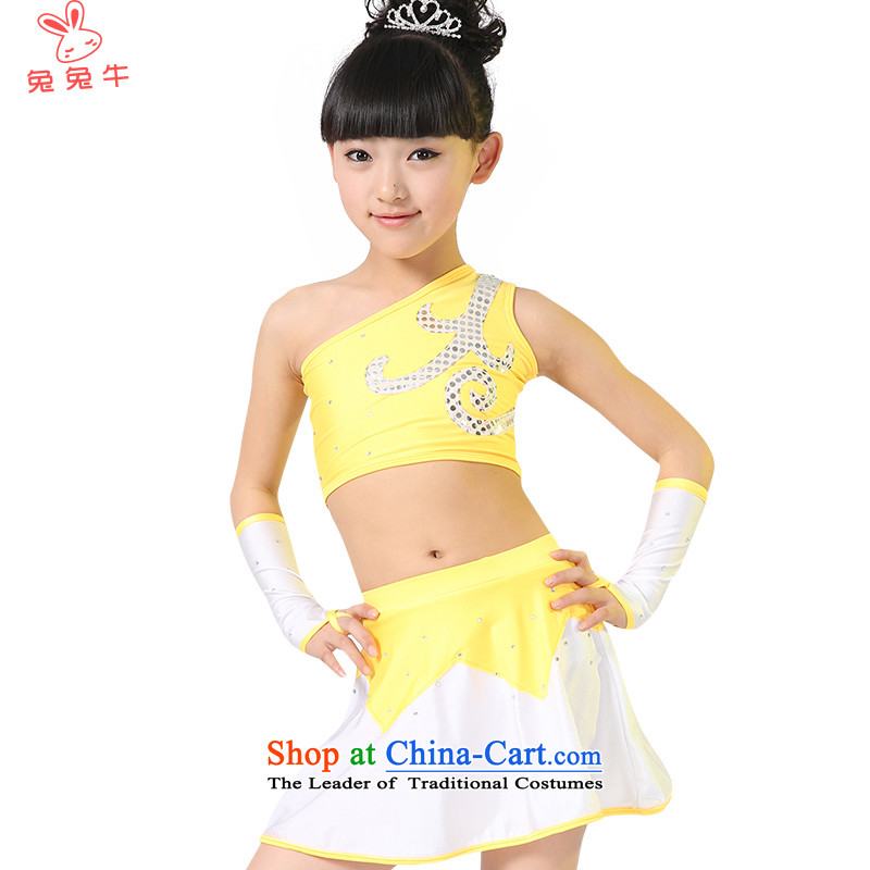 The United States and the new 61 children cow will girls serving Aerobics Gymnastics child care services for children performances of dance wearing boy聽F46聽women yellow聽130