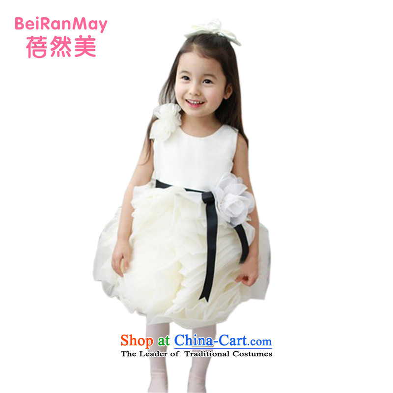Mrs Ingrid Yeung Mei children so wedding dresses princess skirt Flower Girls bon bon apron skirt white girl children costumes and a moderator to Korean female children's wear milky white size recommendations the Advisory service
