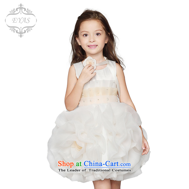 Eyas children wedding dress skirt bon bon flower girl children's wear skirts Female dress your baby princess skirt girls dress skirt wedding bon bon skirt will dress female white聽110