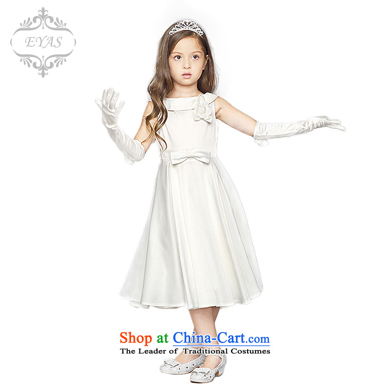 Eyas2014 spring and summer new Children's dress princess skirt wedding white children skirt girls birthday dress princess skirt bon bon skirt female white 140