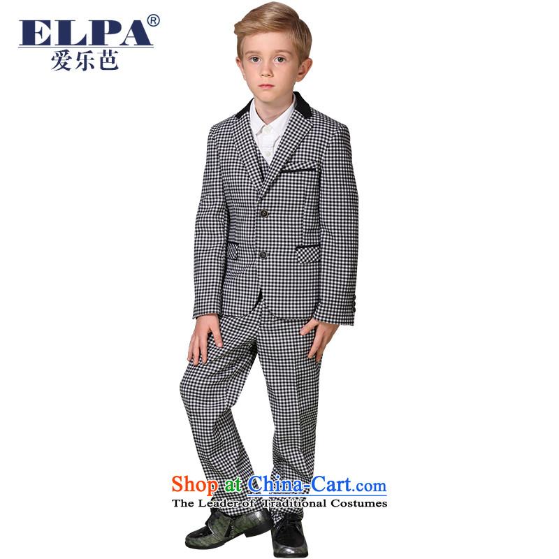 The 2014 autumn new ELPA CHILDREN'S APPAREL small suit boy plaid dress suit kits NX0012 165