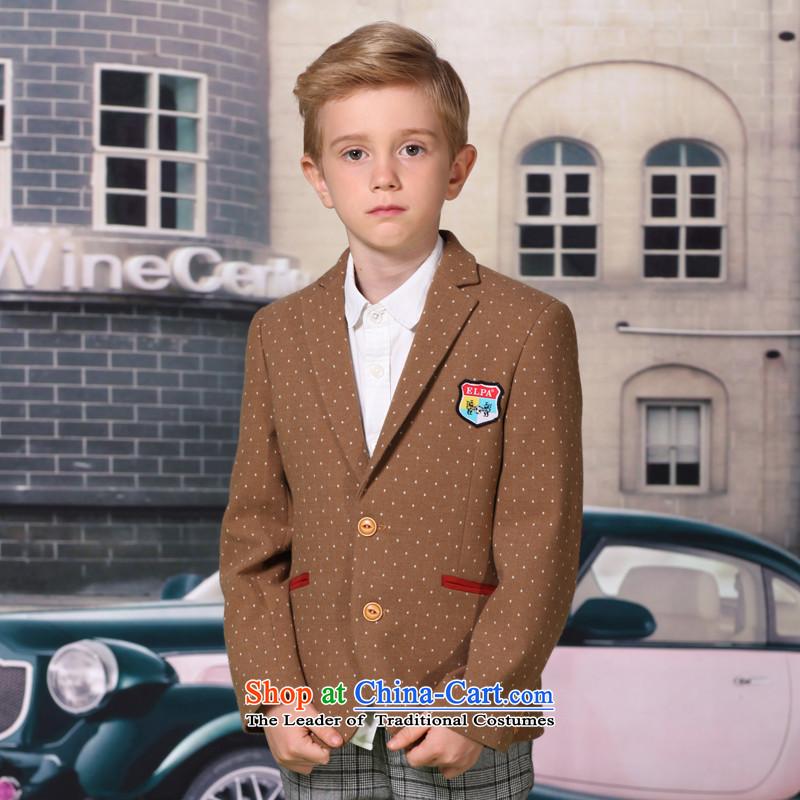 The 2014 autumn new ELPA children's apparel small boy wave point suit leisure school uniform, suits NX0009 NX0009A 120