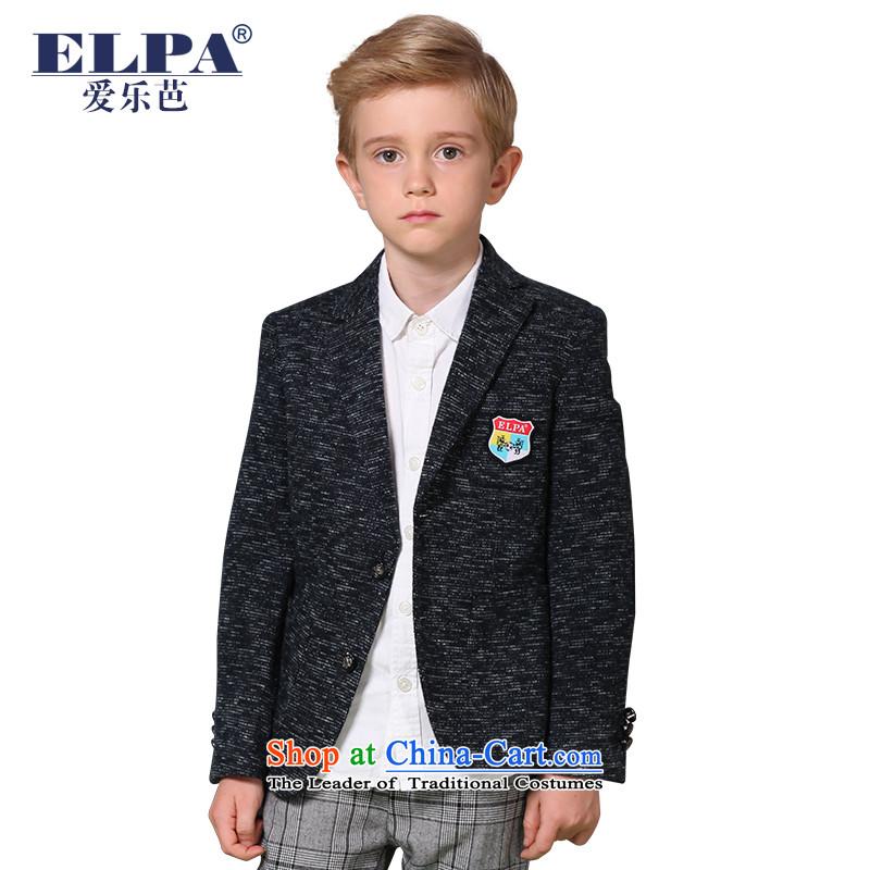 The 2014 autumn new ELPA CHILDREN'S APPAREL small suit boy cotton knit Snow Flower school uniforms of leisure suit NX0008 145