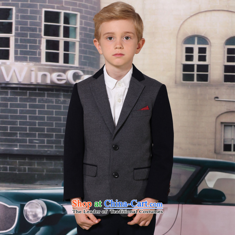 The 2014 autumn new ELPA children's apparel small boy thin hair suit it knocked color stitching) dress suit NX0005 NX0005B 150