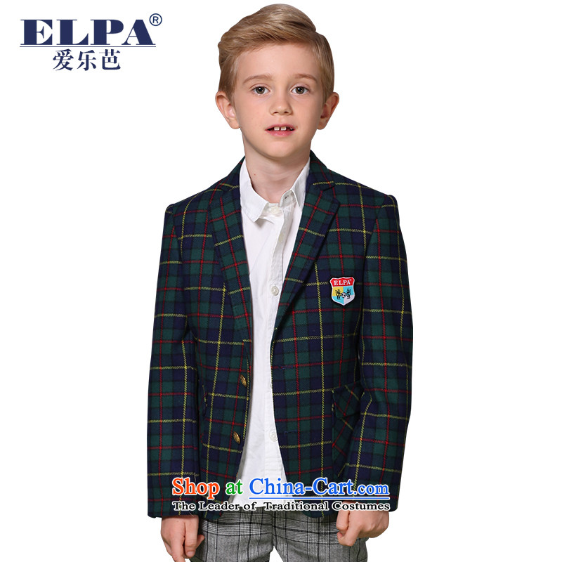 ?The 2014 autumn ELPA clearance new children's apparel small suit boy wool gross plaid leisure suit? NX0013 135