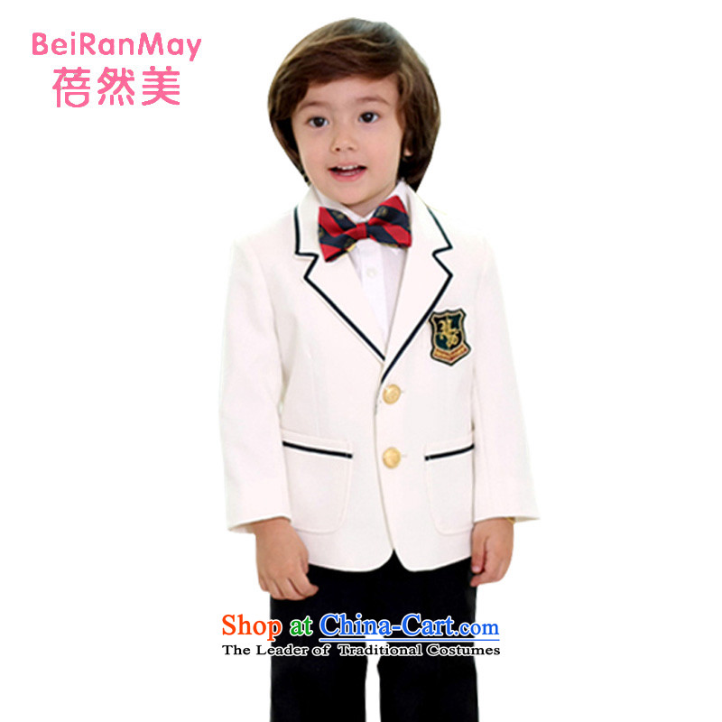 Mrs Ingrid Yeung Mei upscale children so suit Male Kit Flower Girls suits dress suits for the boys more suits Korea version 8 black suit, white piece white120 yards 115-125CM Height