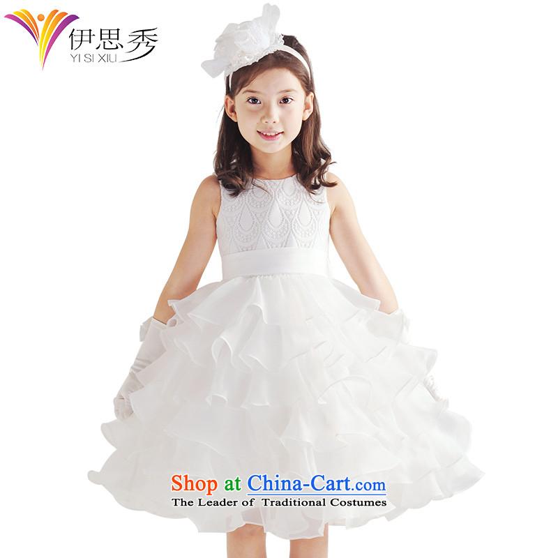 Miss Cyd spring and summer league of new girls dress princess skirt cake skirt Flower Girls dress wedding dress children bon bon dresses Snow White 61 Show0224 skirt and white white150cm/12 code
