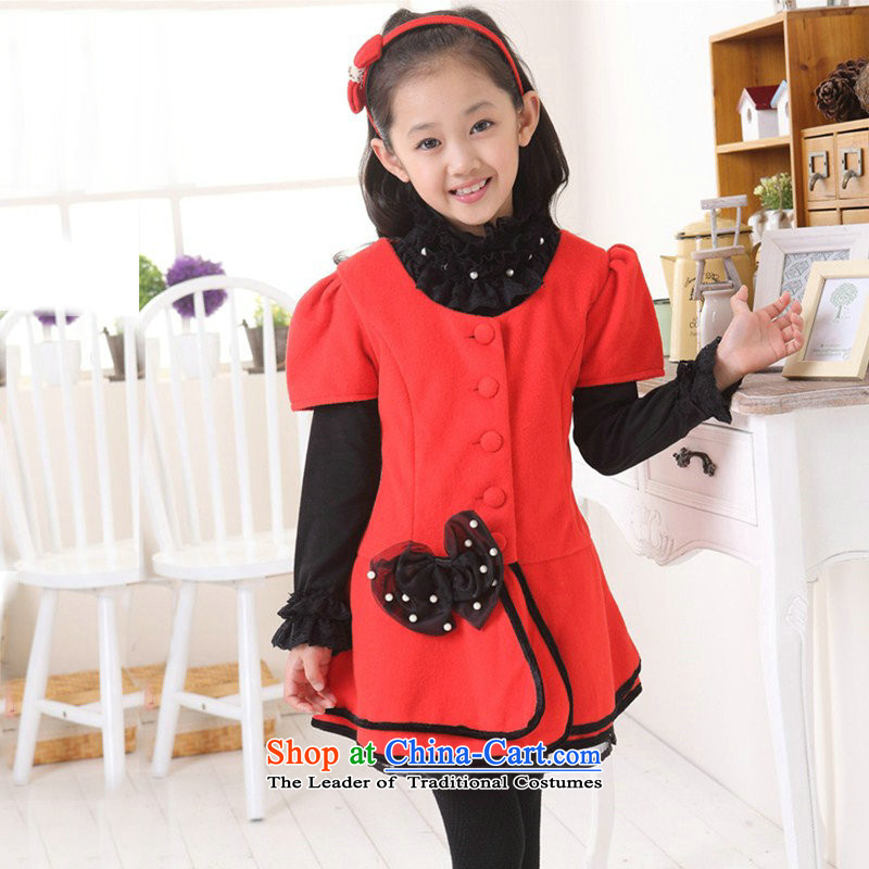 The girl child dresses princess fall skirt will replace the 2014 autumn singlet skirt autumn and winter, CUHK girls aged 3-13 skirt sub-ni vest skirt guest property such as map color 160