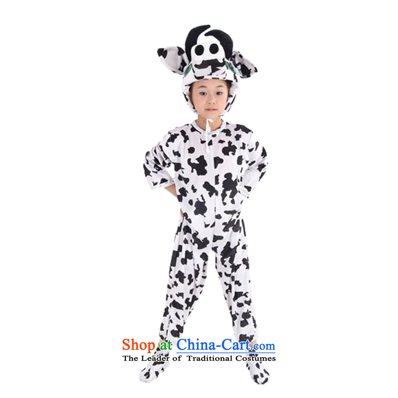Adjustable leather case package children animal cartoon cow will serve dance white聽150cm