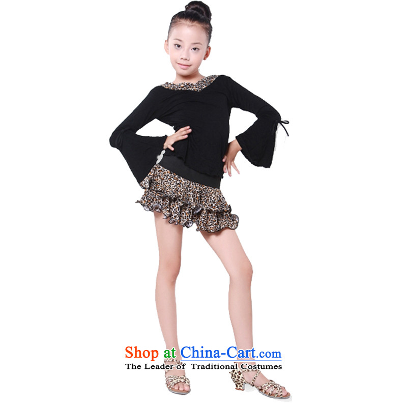 Adjustable leather case package for children's dance serving children ballet, Latin exercise clothing black 160cm
