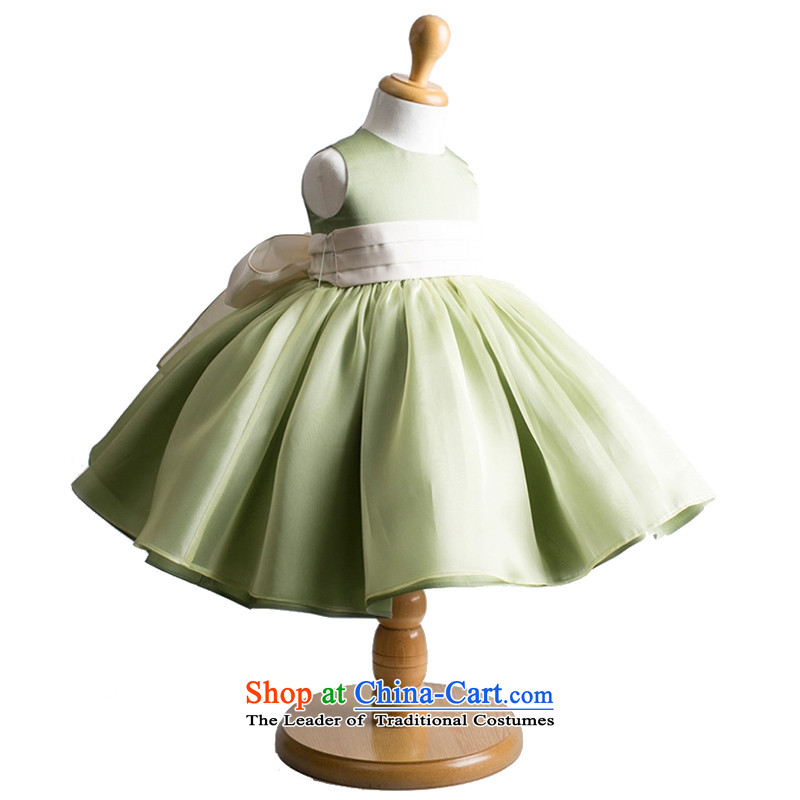 Adjustable leather case package children dance services children dress skirt princess skirt聽145cm Army Green