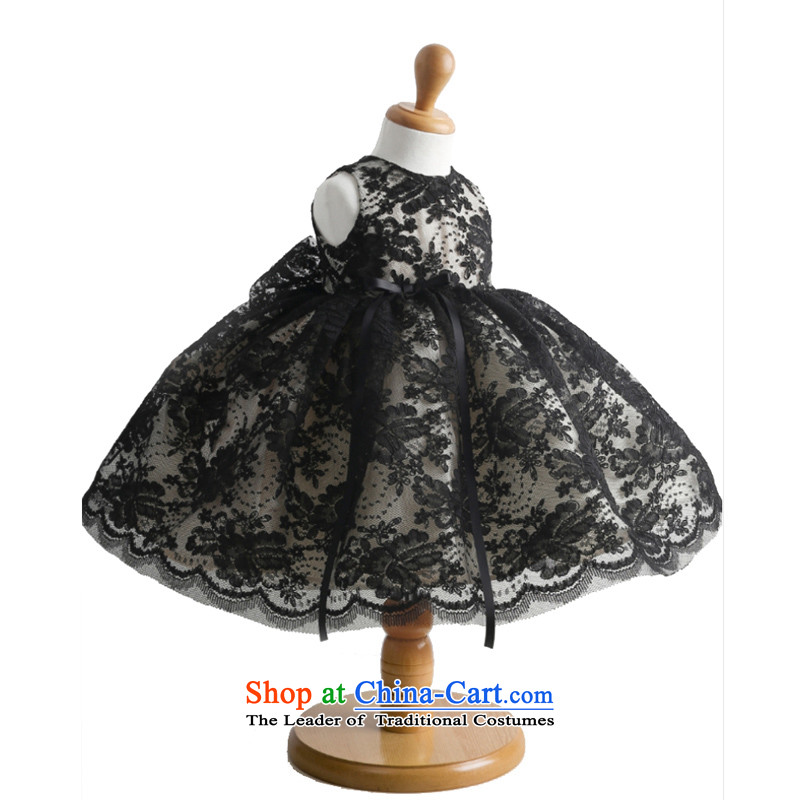 Adjustable leather flower girl children package dress dress dances to Princess skirt black聽160cm