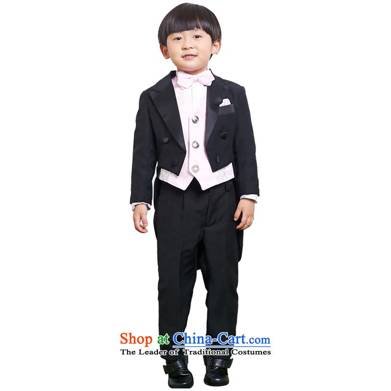 Adjustable leather case package B suits dress Flower Girls Kit Black聽140cm