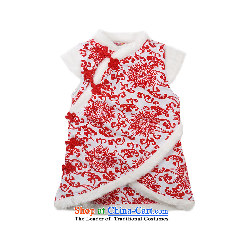Child Lok Wei new winter clothing girls pattern porcelain China wind ãþòâ qipao children Tang dynasty new year 1-4 years red 100