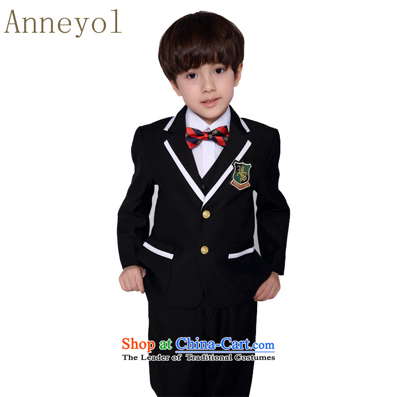 M_B suits anneyol kit children kit suits Flower Girls suit Male dress suit Korean flower girl children will west black size to large non Thick-height options聽90