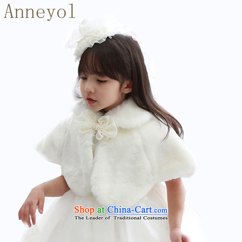 The Korean version of the Child dresses anneyl shawl Flower Girls shawl children at shoulder capes small shawls gross children serving children's entertainment performances shawl shawl white size is too small120 yards 100-110cm recommendations