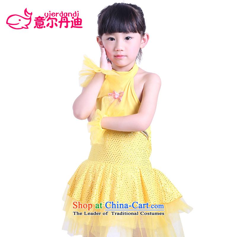 The new child costumes girls show apparel princess skirt dress modern dance performances Dance Dance Show Services early childhood skirt yellow聽130