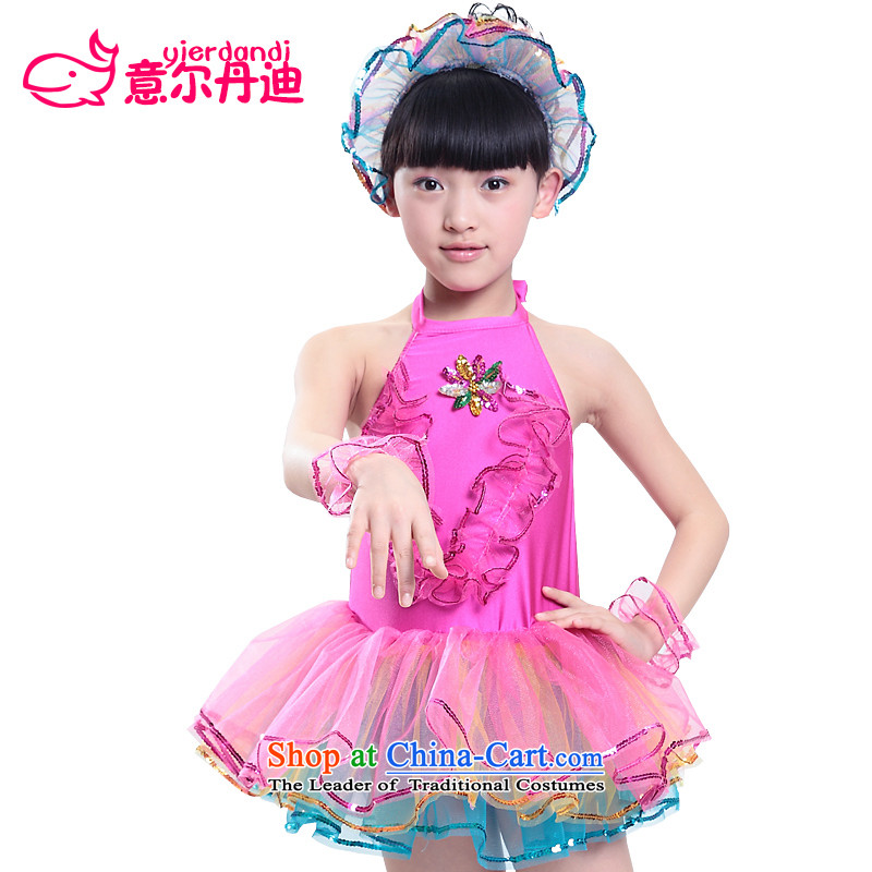 Children Dance services costumes new girls dancing dress uniform early childhood modern dance show apparel will dance as child care in red 130