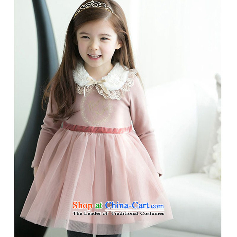 The new summer children's wear skirt Fashion Show Korean children cotton dress child marriage dresses children dress skirt bon bon Skirts 2 Pink?140