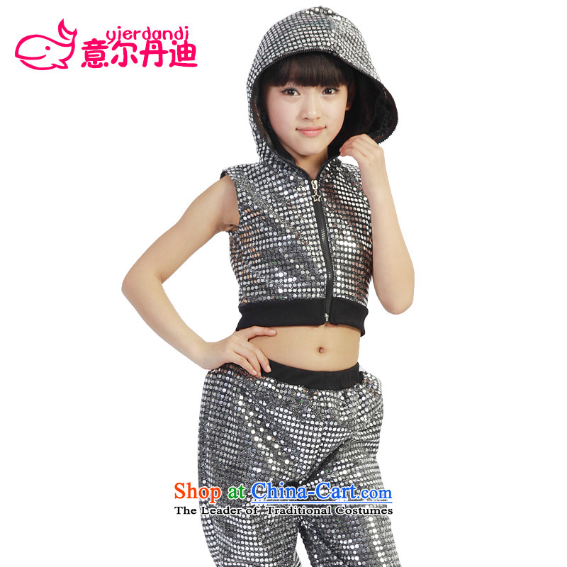 2015 new children's stage performances for boys and girls to modern jazz dance wearing apparel package dance child care professional children will dress Black150