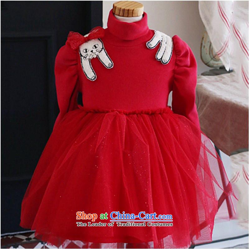 Children's wear girls in spring and autumn 2015 children fall and winter new Korean fashion sense of sweet long-sleeved dresses Korean lady skirt (CD 140 BLUE YOGA (VINIKAVEN) , , , shopping on the Internet
