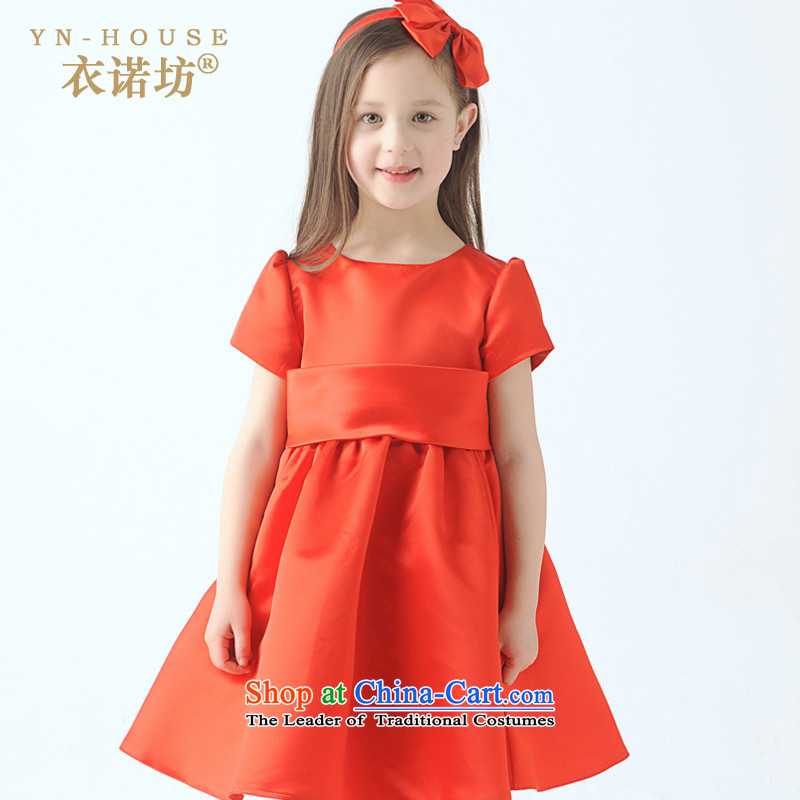 The workshop on yi girls will dress Skirts 7 Cuff Princess skirt spring girls snow white dress children dress skirt princess skirt female Flower Girls dress princess skirt Red 140