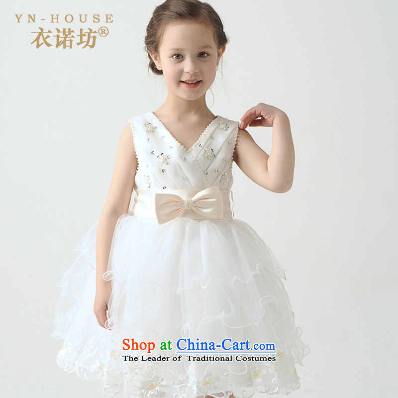 Had to hold workshop on the princess children yi skirt girls dress spring sleeveless bon bon skirt Flower Girls dress girls children will dress girls temperament dress White 120