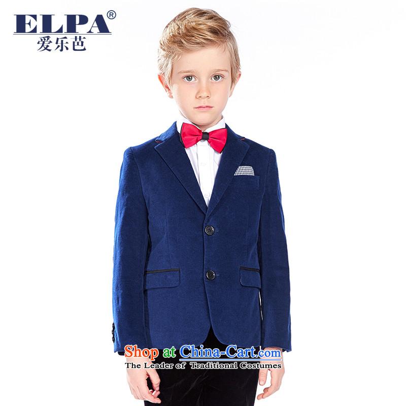 The autumn 2015 new ELPA CHILDREN'S APPAREL boy velvet draped Flower Girls will dress NXB0030 NXB0030 155