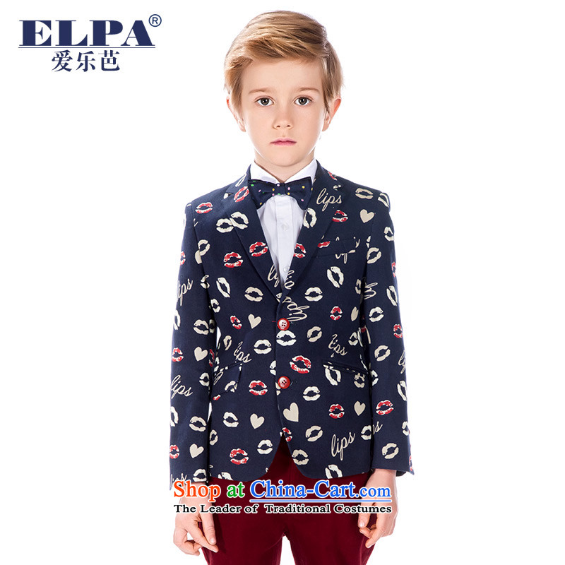 The autumn 2015 new ELPA CHILDREN'S APPAREL SAIKA Suit B suits with Flower Girls dress?NXB0038 will suit the lips?155