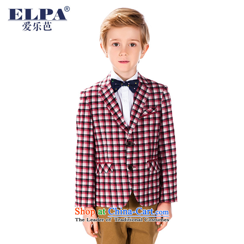 Elpa autumn and winter new children's wear boys latticed jacket Suits Small Flower Girls dress NXB0039 will NXB0039B red checkered 165