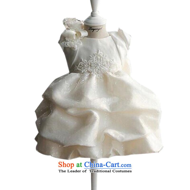 With the Chinese girls will dress children wedding flower girl children's wear dresses bon bon princess skirt white children90