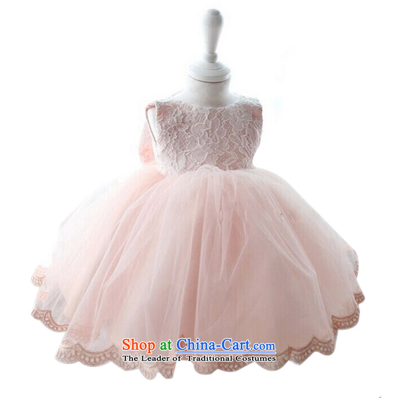 With the Chinese princess skirt wedding dresses Flower Girls dress pink girls dress skirt Snow White bon bon skirt female pink 90