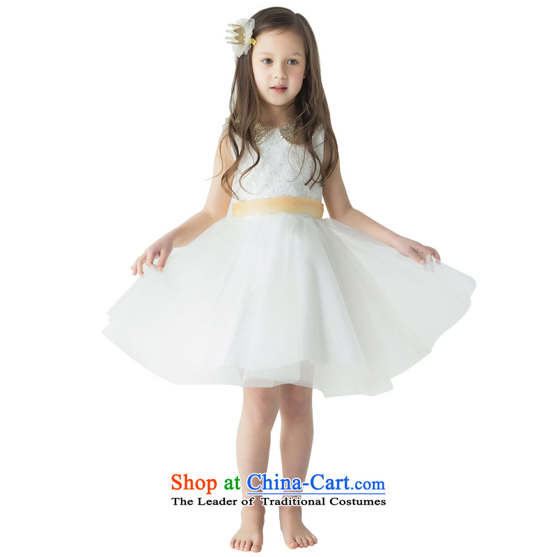 Jasmine flower girl children's wear under the Po clothing will children dress princess skirt girls dancing skirt for champagne color film Kim bon bon skirt L15001004 waistband ivory 160 - chest waist 78 80.