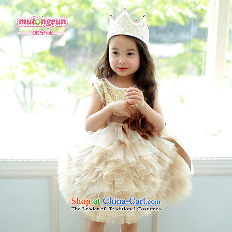 Bathing in the staff of the estates girls dresses princess skirt skirt children bon bon skirt wedding dress, will preside over the birthday Flower Girls dress dresses figure 150cm