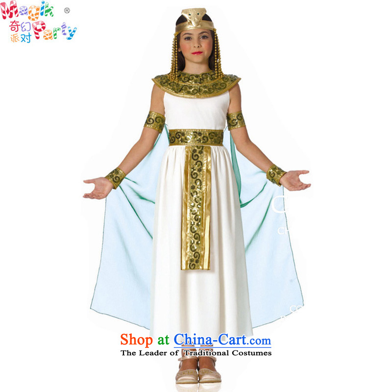 Fantasy Halloween costume party girls show apparel role-playing games services dress ancient Egyptian Princess Snow woven skirts Green 135