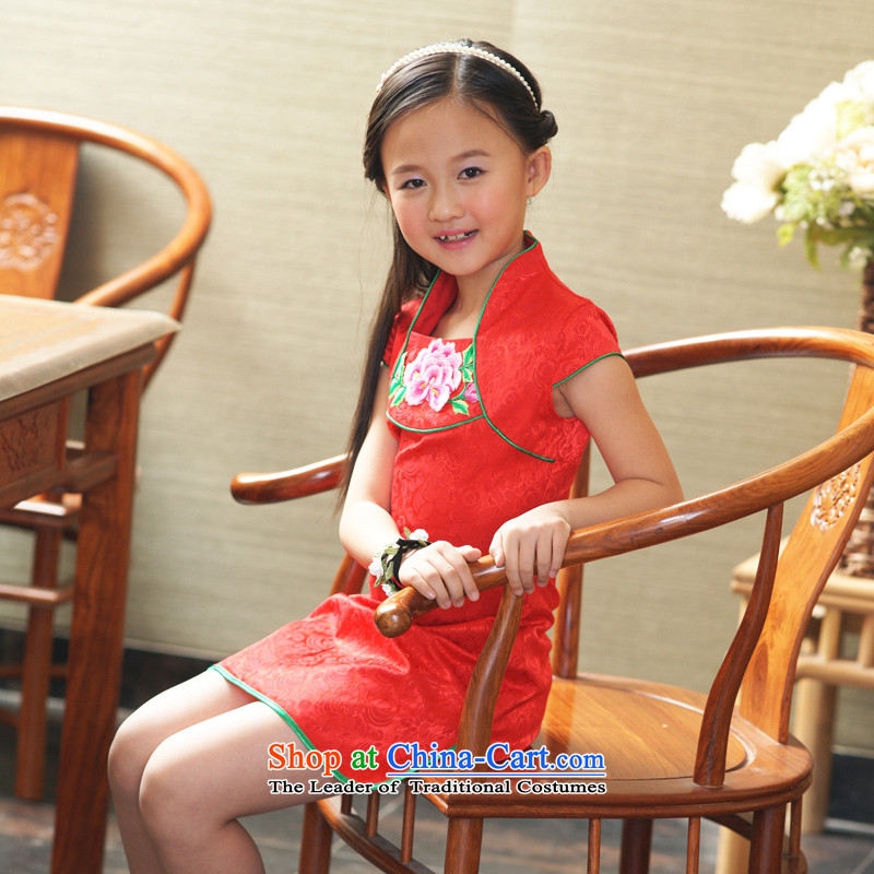 Ethernet-China wind improved small children shawl embroidered cotton jacquard cheongsam girls classic skirt dream Tianxiang Series of color Loja 160