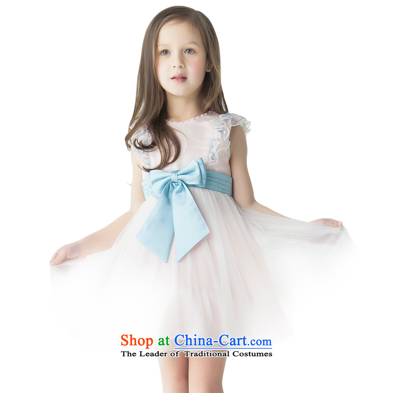 Jasmine children's wear dresses po flower girl children princess skirt girls show services services will double dance blue Bow Tie聽L15001012聽toner Orange聽170聽Custom_