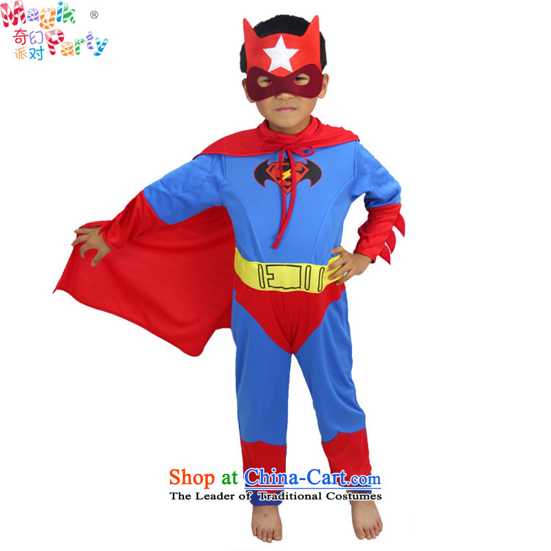 Fantasy party photography school activities show Apparel clothing Photographic Dress super heroes iron man Batman Batman the superman Superman clothing聽130cm_9-10 replacing code_